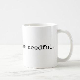 veuillez faire le nécessaire mug