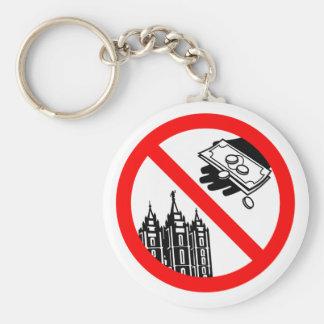 Veuillez ne pas alimenter le porte - clé d'église porte-clé rond