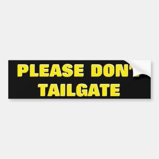 Veuillez ne pas faire le jaune de porte à autocollant de voiture