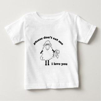 Veuillez ne pas me manger, je t'aime (les moutons) t-shirt pour bébé