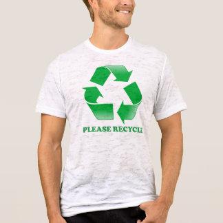 Veuillez réutiliser le T-shirt de burn-out