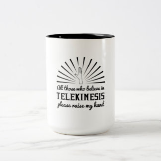 Veuillez soulever ma main mug bicolore