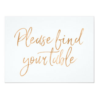 """""""Veuillez trouver votre signe rose d'or élégant de Carton D'invitation 16,51 Cm X 22,22 Cm"""