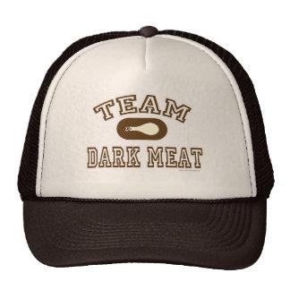 Viande foncée d'équipe au thanksgiving casquettes de camionneur