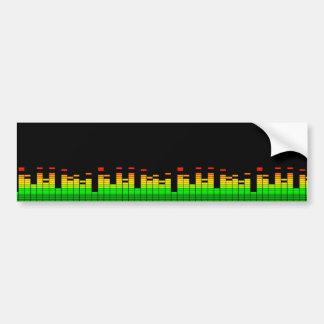 Vibraphone d'égaliseur du battement du noir de autocollant pour voiture