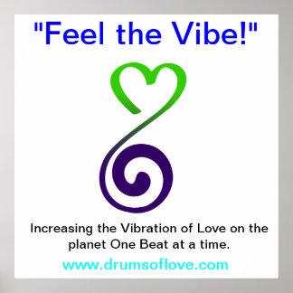 Vibration de l'AMOUR Poster