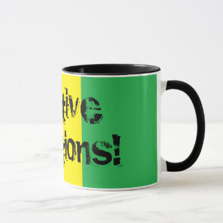 Vibrations positives ! Tasse de Rasta de