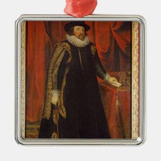 Vicomte de monsieur Francis Bacon de St Albans Ornement Carré Argenté