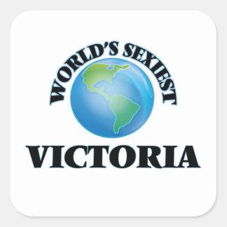 Victoria le plus sexy du monde autocollants carrés