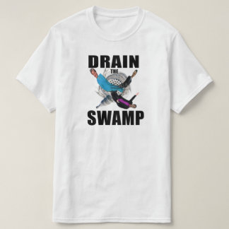 Vidangez le T-shirt noir et blanc bleu de marais