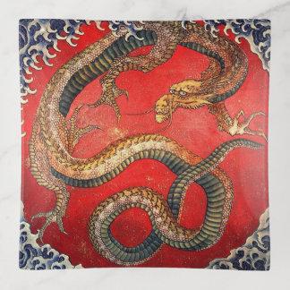 Vide-poche 北斎の龍, dragon de Hokusai de 北斎, Hokusai, art du