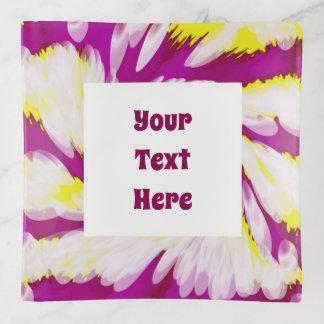 Vide-poche Abrégé sur blanc jaune rose super remous de TieDye