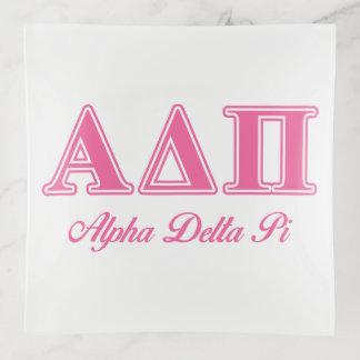Vide-poche Alpha lettres roses 2 du delta pi