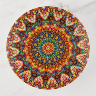 Vide-poche Art coloré de mandala de Pâques de bonbon mou