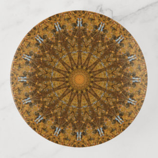 Vide-poche Art de mandala d'automne d'or et de Brown