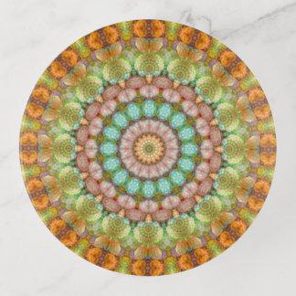 Vide-poche Art en pastel de mandala de Pâques de bonbon mou