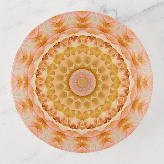 Vide-poche Art floral de mandala de joli rose de pêche