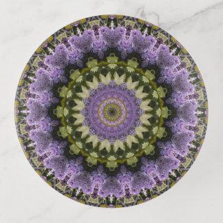 Vide-poche Art floral lilas vert et pourpre de mandala
