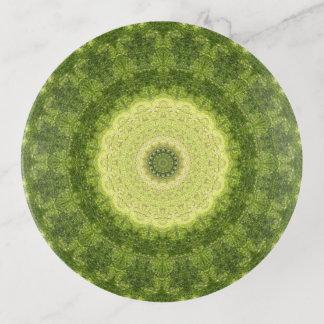 Vide-poche Art vert et jaune-clair de mandala