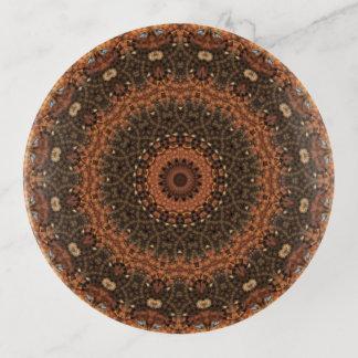 Vide-poche Brown masculin et art bronzage de mandala