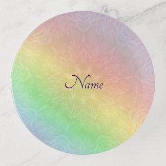 Vide-poche Conception en pastel de mandala d'arc-en-ciel