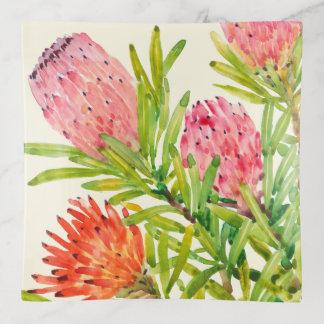 Vide-poche Fleurs tropicales d'aquarelle