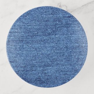 Vide-poche Image blanche bleue de regard de texture de denim