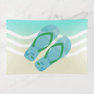 Vide-poche La plage bleue d'été ondule des bascules