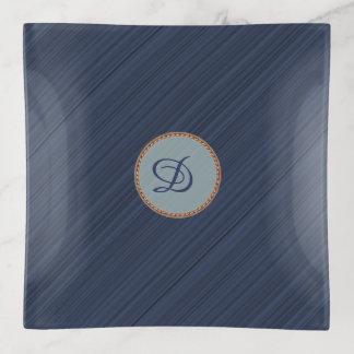 Vide-poche Les rayures diagonales de bleu marine ont