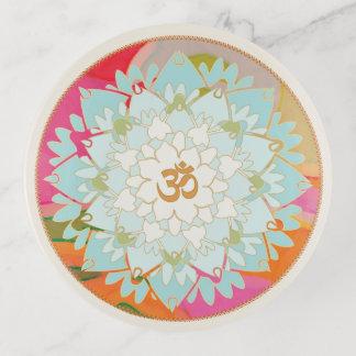 Vide-poche Mandala coloré de fleur d'OM Lotus