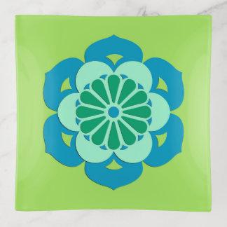 Vide-poche Mandala de fleur de Lotus, vert de chaux et