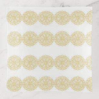 Vide-poche Mandala d'or fascinant dans la finition vintage