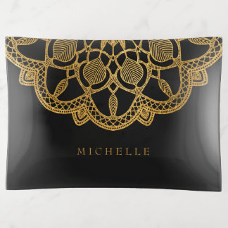 Vide-poche Mandala élégant ID353 d'or