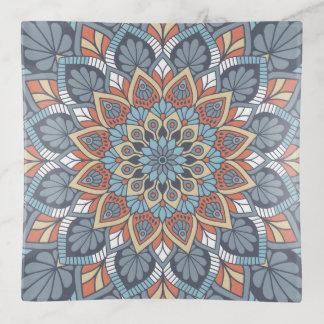 Vide-poche Mandala floral bleu