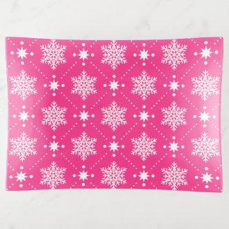 Vide-poche Motif blanc rose Girly de Noël de flocons de neige