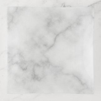 Vide-poche Motif de marbre blanc élégant chic