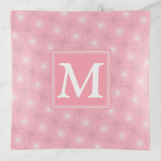 Vide-poche Motif rose de cercles de monogramme