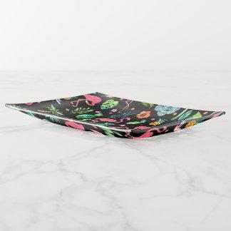 Vide-poche Motif tropical coloré de flamants et de fleurs