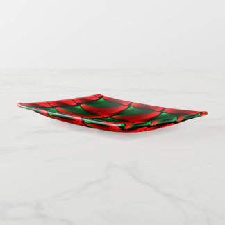 Vide-poche Noël vert rouge