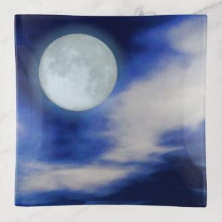 Vide-poche Paysage lunaire avec les nuages éclairés par la