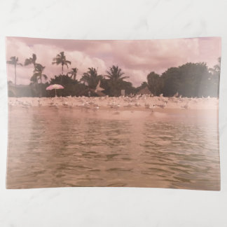 Vide-poche Peinture de scène vintage de plage de style