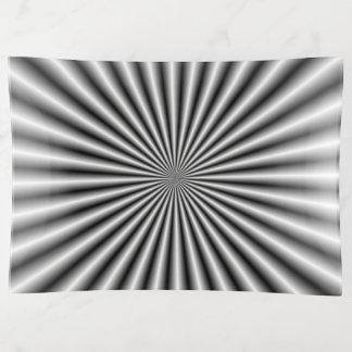 Vide-poche Rayons en noir et blanc