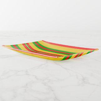 Vide-poche Rayures jaunes, rouges et vertes du Bénin 2