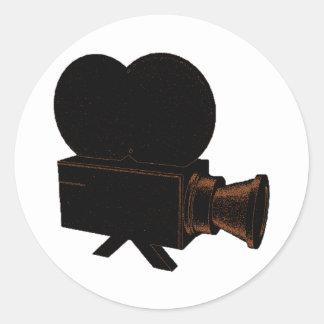 Vidéo vintage sticker rond