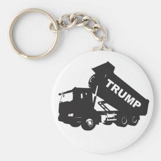 Videz l'atout - camion à benne basculante porte-clé rond