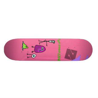 Vie dans la rue plateaux de skateboards customisés