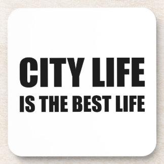 Vie de la vie de ville la meilleure dessous-de-verre