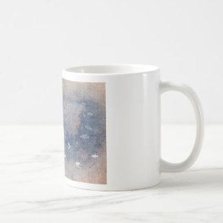 vie marine de carte du monde mug