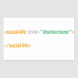 vie sociale - directive sticker rectangulaire