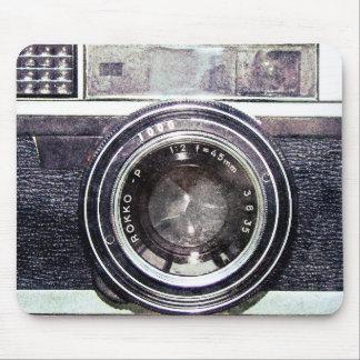 Vieil appareil-photo noir tapis de souris
